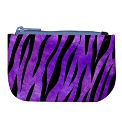 Skin3 Black Marble & Purple Watercolor Large Coin Purse by trendistuff