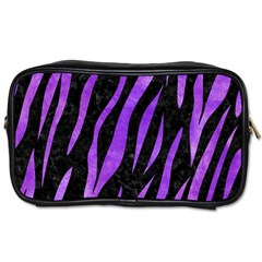 Skin3 Black Marble & Purple Watercolor (r) Toiletries Bags by trendistuff