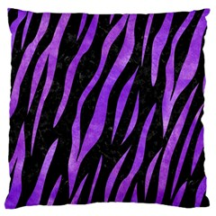 Skin3 Black Marble & Purple Watercolor (r) Large Flano Cushion Case (two Sides) by trendistuff