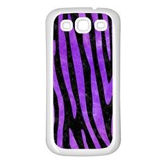 Skin4 Black Marble & Purple Watercolor Samsung Galaxy S3 Back Case (white) by trendistuff