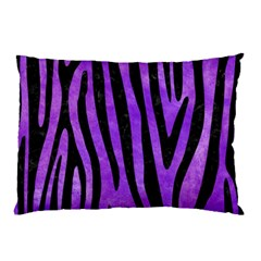 Skin4 Black Marble & Purple Watercolor (r) Pillow Case (two Sides)