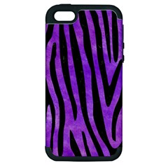 Skin4 Black Marble & Purple Watercolor (r) Apple Iphone 5 Hardshell Case (pc+silicone)