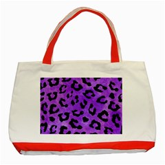 Skin5 Black Marble & Purple Watercolor (r) Classic Tote Bag (red) by trendistuff