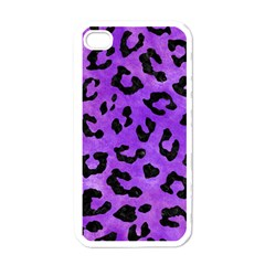 Skin5 Black Marble & Purple Watercolor (r) Apple Iphone 4 Case (white)