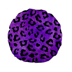Skin5 Black Marble & Purple Watercolor (r) Standard 15  Premium Flano Round Cushions by trendistuff