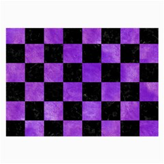 Square1 Black Marble & Purple Watercolor Large Glasses Cloth by trendistuff