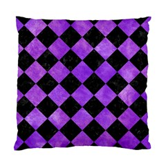 Square2 Black Marble & Purple Watercolor Standard Cushion Case (two Sides)
