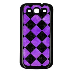 Square2 Black Marble & Purple Watercolor Samsung Galaxy S3 Back Case (black) by trendistuff