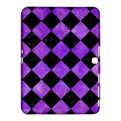 Square2 Black Marble & Purple Watercolor Samsung Galaxy Tab 4 (10 1 ) Hardshell Case  by trendistuff