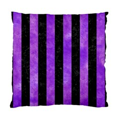 Stripes1 Black Marble & Purple Watercolor Standard Cushion Case (two Sides) by trendistuff