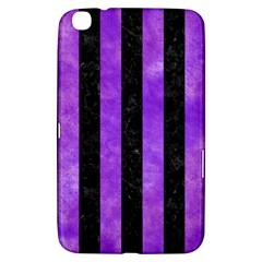 Stripes1 Black Marble & Purple Watercolor Samsung Galaxy Tab 3 (8 ) T3100 Hardshell Case  by trendistuff