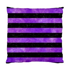 Stripes2 Black Marble & Purple Watercolor Standard Cushion Case (two Sides) by trendistuff