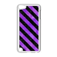 Stripes3 Black Marble & Purple Watercolor Apple Ipod Touch 5 Case (white) by trendistuff