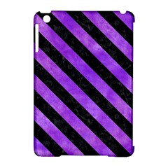 Stripes3 Black Marble & Purple Watercolor Apple Ipad Mini Hardshell Case (compatible With Smart Cover) by trendistuff