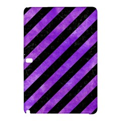 Stripes3 Black Marble & Purple Watercolor (r) Samsung Galaxy Tab Pro 12 2 Hardshell Case by trendistuff