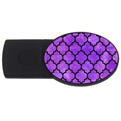 Tile1 Black Marble & Purple Watercolor Usb Flash Drive Oval (2 Gb)