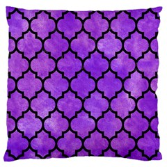 Tile1 Black Marble & Purple Watercolor Standard Flano Cushion Case (two Sides)