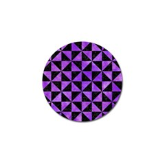 Triangle1 Black Marble & Purple Watercolor Golf Ball Marker (4 Pack) by trendistuff