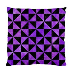 Triangle1 Black Marble & Purple Watercolor Standard Cushion Case (two Sides) by trendistuff