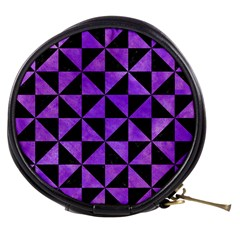 Triangle1 Black Marble & Purple Watercolor Mini Makeup Bags