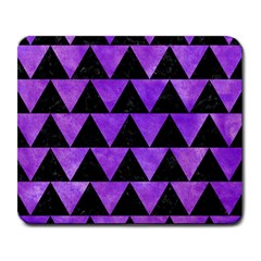 Triangle2 Black Marble & Purple Watercolor Large Mousepads by trendistuff