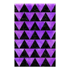Triangle2 Black Marble & Purple Watercolor Shower Curtain 48  X 72  (small)  by trendistuff