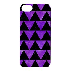 Triangle2 Black Marble & Purple Watercolor Apple Iphone 5s/ Se Hardshell Case by trendistuff