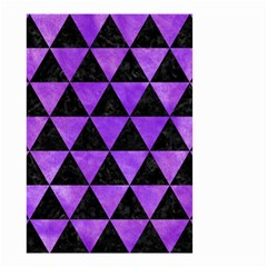 Triangle3 Black Marble & Purple Watercolor Small Garden Flag (two Sides) by trendistuff