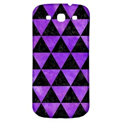 Triangle3 Black Marble & Purple Watercolor Samsung Galaxy S3 S Iii Classic Hardshell Back Case by trendistuff