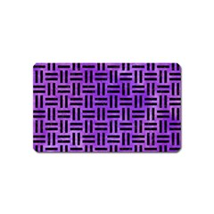 Woven1 Black Marble & Purple Watercolor Magnet (name Card) by trendistuff