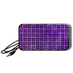 Woven1 Black Marble & Purple Watercolor Portable Speaker by trendistuff
