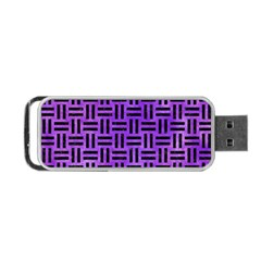 Woven1 Black Marble & Purple Watercolor Portable Usb Flash (one Side) by trendistuff