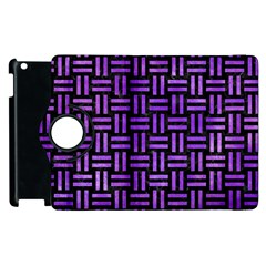 Woven1 Black Marble & Purple Watercolor (r) Apple Ipad 3/4 Flip 360 Case by trendistuff