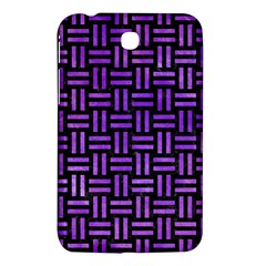 Woven1 Black Marble & Purple Watercolor (r) Samsung Galaxy Tab 3 (7 ) P3200 Hardshell Case  by trendistuff