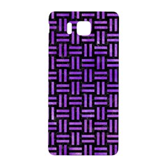 Woven1 Black Marble & Purple Watercolor (r) Samsung Galaxy Alpha Hardshell Back Case by trendistuff