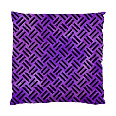 Woven2 Black Marble & Purple Watercolor Standard Cushion Case (two Sides) by trendistuff