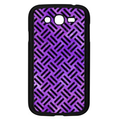 Woven2 Black Marble & Purple Watercolor Samsung Galaxy Grand Duos I9082 Case (black) by trendistuff