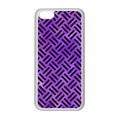 Woven2 Black Marble & Purple Watercolor Apple Iphone 5c Seamless Case (white) by trendistuff