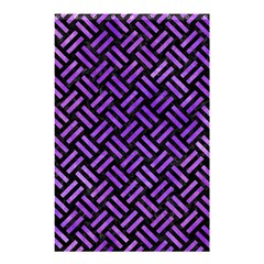 Woven2 Black Marble & Purple Watercolor (r) Shower Curtain 48  X 72  (small)  by trendistuff