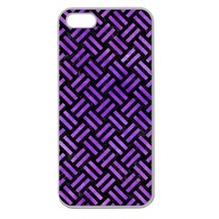 Woven2 Black Marble & Purple Watercolor (r) Apple Seamless Iphone 5 Case (clear) by trendistuff