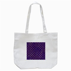 Woven2 Black Marble & Purple Watercolor (r) Tote Bag (white) by trendistuff