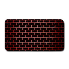 Brick1 Black Marble & Red Brushed Metal (r) Medium Bar Mats by trendistuff
