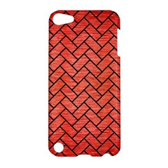 Brick2 Black Marble & Red Brushed Metal Apple Ipod Touch 5 Hardshell Case by trendistuff