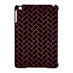 Brick2 Black Marble & Red Brushed Metal (r) Apple Ipad Mini Hardshell Case (compatible With Smart Cover) by trendistuff
