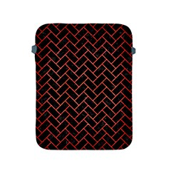Brick2 Black Marble & Red Brushed Metal (r) Apple Ipad 2/3/4 Protective Soft Cases by trendistuff