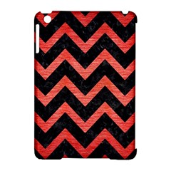 Chevron9 Black Marble & Red Brushed Metal (r) Apple Ipad Mini Hardshell Case (compatible With Smart Cover) by trendistuff