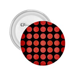 Circles1 Black Marble & Red Brushed Metal (r) 2 25  Buttons