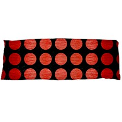 Circles1 Black Marble & Red Brushed Metal (r) Body Pillow Case (dakimakura) by trendistuff
