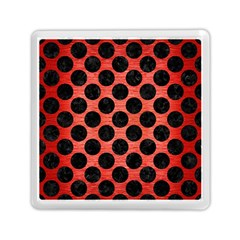 Circles2 Black Marble & Red Brushed Metal Memory Card Reader (square)  by trendistuff