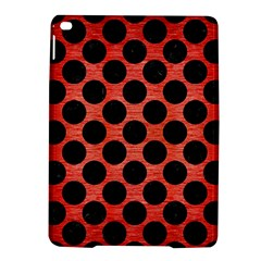 Circles2 Black Marble & Red Brushed Metal Ipad Air 2 Hardshell Cases by trendistuff